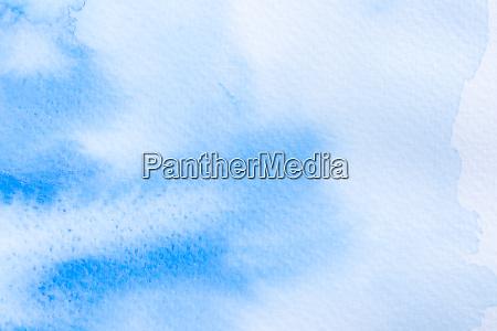 blaue aquarell abstrakte hintergrund auf weisspapier