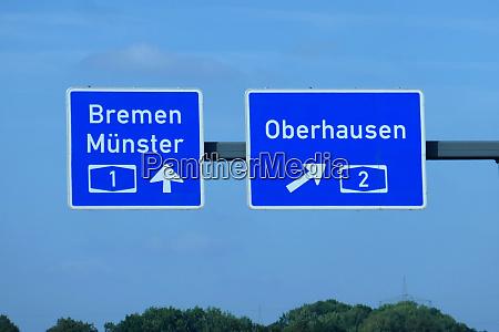 bundesautobahnausfahrt bremen muenster oberhausen