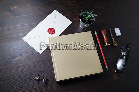 leere vintage briefpapier