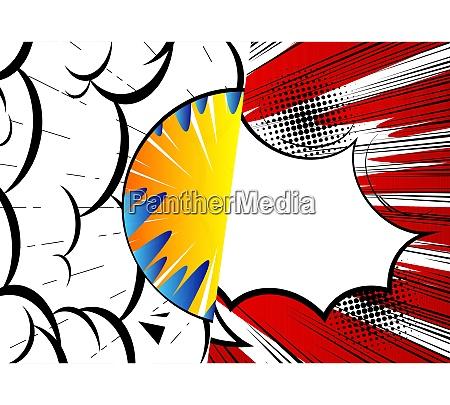 pop art comic design farbigen hintergrund