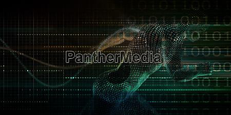 running man technology digital concept for