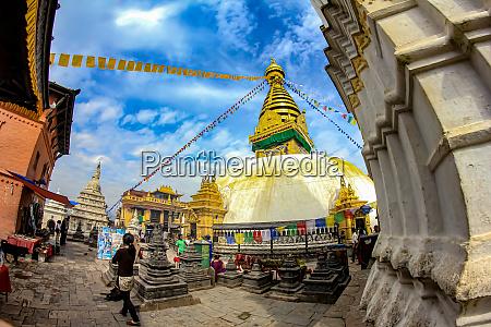 swajambunath stupa in kathmandu