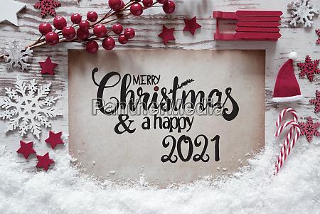 rote weihnachtsdekoration papier frohe weihnachten und