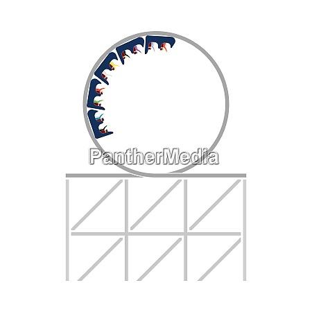 achterbahn loop icon