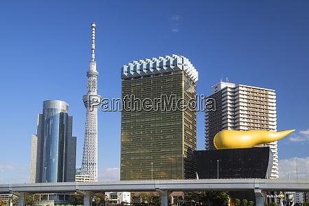 tokyo skytree and asahi breweries tower