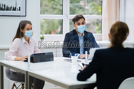 job business interview im buero
