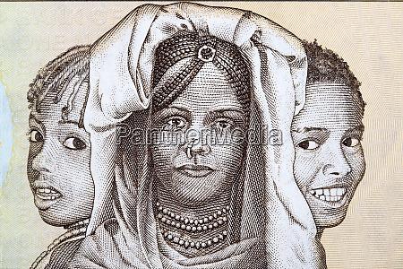 triptychon der portraets eritrea kinder aus