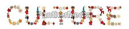 bunte, weihnachten, dekoration, brief, gebäude, wort - 28843127