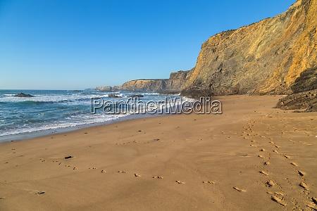atlantischer isolierter strand