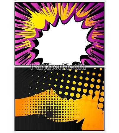 bunte comic buch seite illustration mit