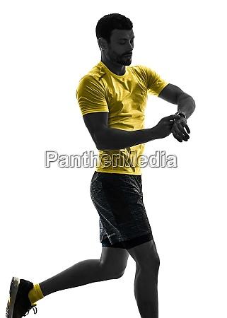 mann laeufer laeuft jogger joggingzeit isoliert