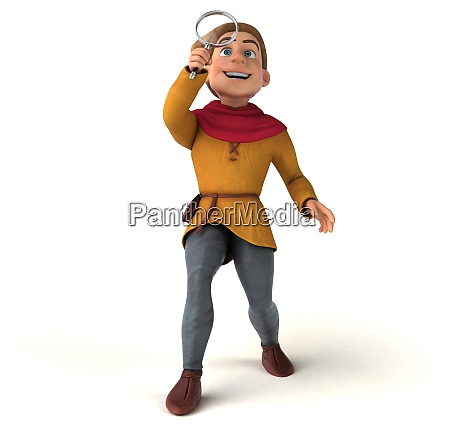 mittelalter 3d illustration cartoon mann junge