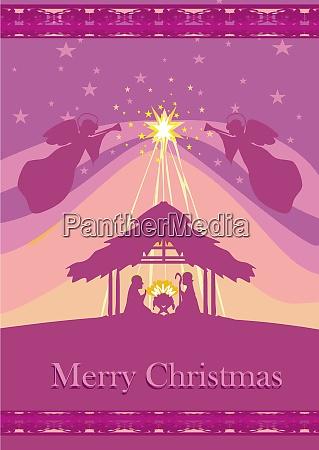 weihnachts religioese krippe