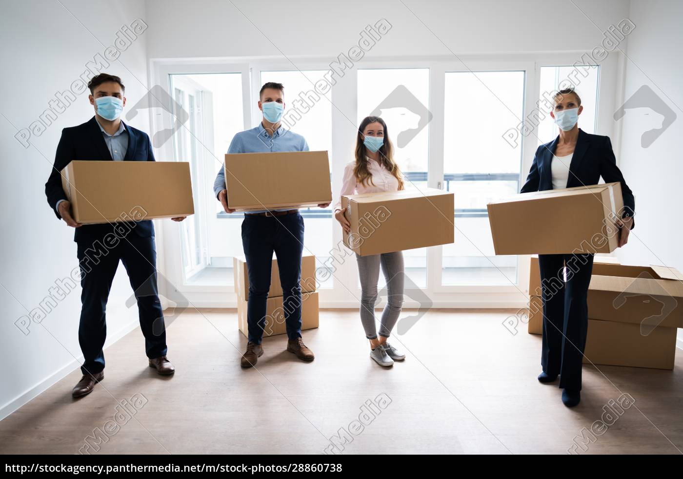 office, relocation., executives, moving, cardboard, boxes - 28860738