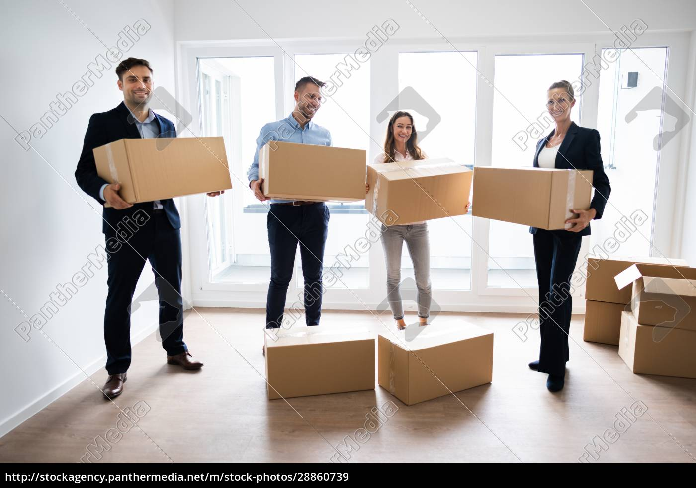 office, relocation., executives, moving, cardboard, boxes - 28860739