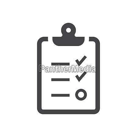 clipboard checkliste schwarzes vektorsymbol