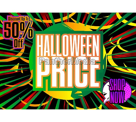 comic-buch, halloween, verkauf, social, media, post-design - 28899017