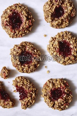 hafer-, und, gelee-cookies - 28899768
