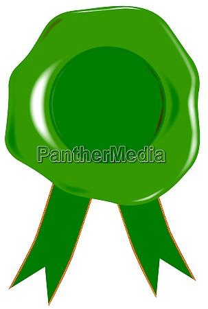gruenes blankosiegel