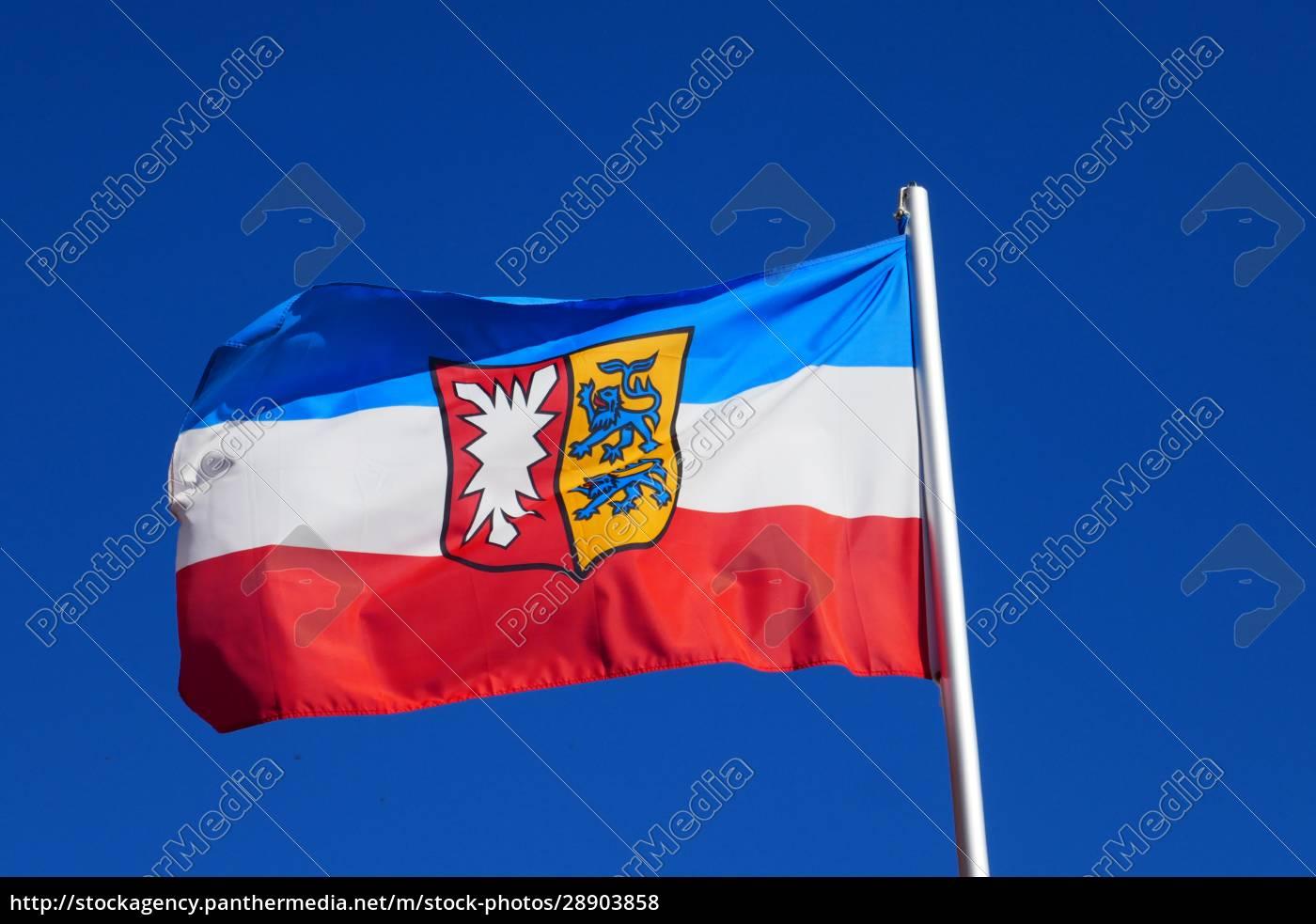 gehisste, flagge, von, schleswig-holstein - 28903858