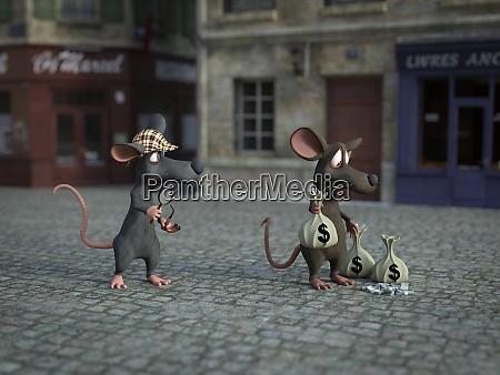 3d rendering einer cartoon detektivmaus die