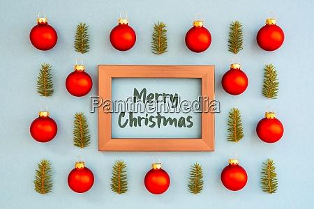 weihnachten textur ball zweig rahmen frohe