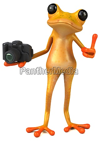spass gelb frosch 3d illustration