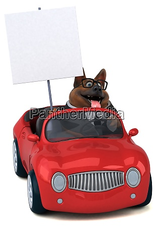 deutscher schaeferhund 3d illustration