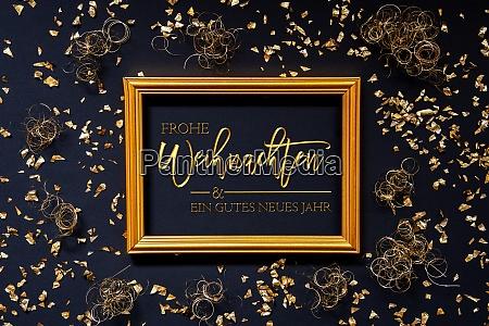 rahmen mit deutschem text frohe weihnachten