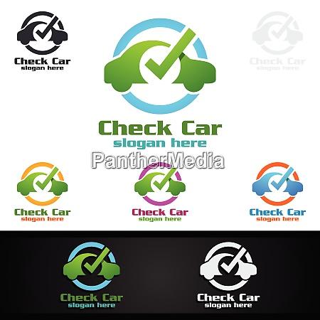 car service logo mit auto und