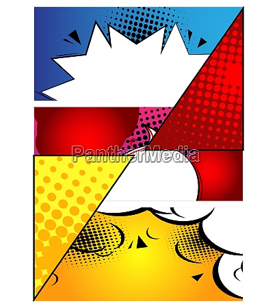 comic buch design hintergrund cartoon illustration