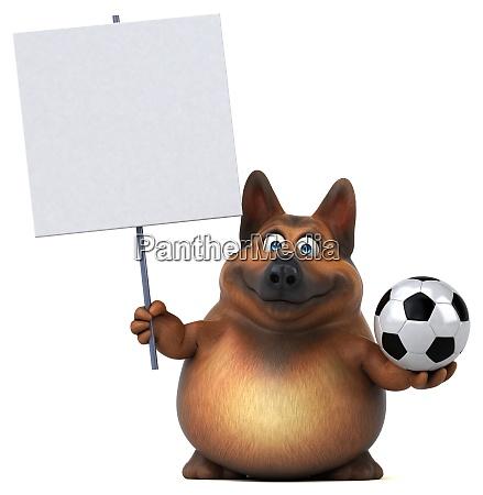spass deutschen schaeferhund 3d illustration