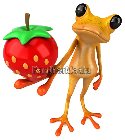 spass gelb frosch 3d illustration