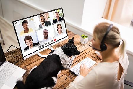 videokonferenzbesprechungsaufruf