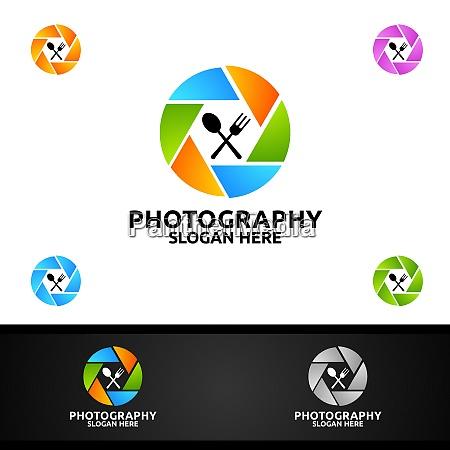 lebensmittel kamera fotografie logo