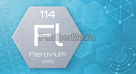 chemisches element des periodensystems flerovium