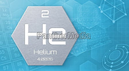 chemisches element des periodensystems helium