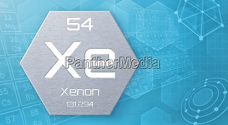 chemisches element des periodensystems xenon