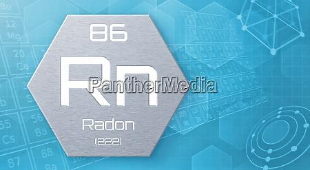 chemisches element des periodensystems radon