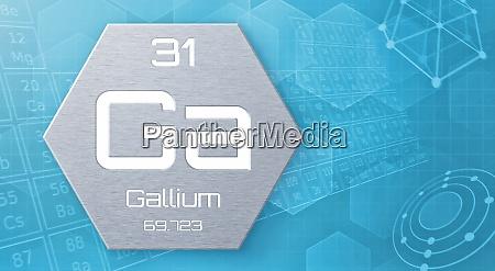 chemisches element des periodensystems gallium