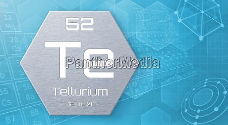 chemisches element des periodensystems tellurium