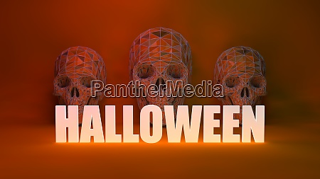 gruselige schaedel halloween hintergrund