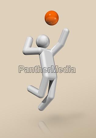 volleyball 3d symbol olympischer sport