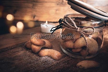 weihnachtsgebaeck vanille halbmonde