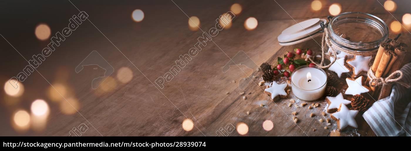 weihnachtsdekoration, mit, zimtsternen - 28939074