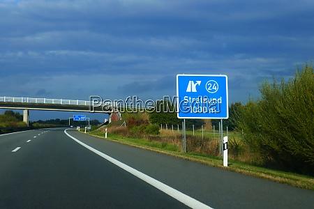 bundesautobahnausfahrt stralsund