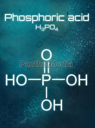 chemische formel von phosphorsaeure auf futuristischem