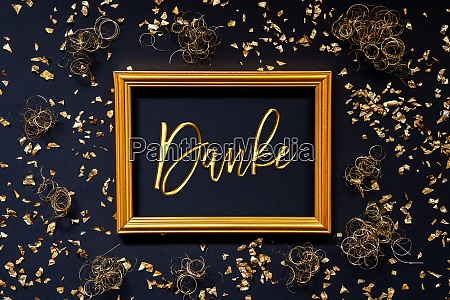 rahmen golden glitter weihnachtsdekoration danke bedeutet