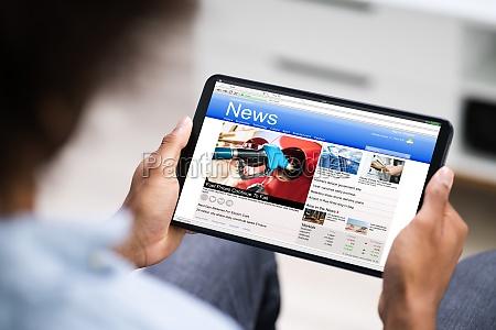 lesen elektronischer nachrichten artikel