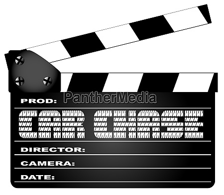 car chase clapperboard